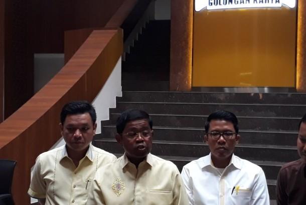 Sekjen Partai Golkar Idrus Marham, Jumat (27/10).
