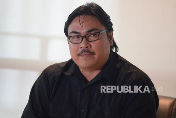 Sekjen PSSI Ade Wellington saat memberikan keterangan di Kantor PSSI, Jakarta, Jumat (20/1)