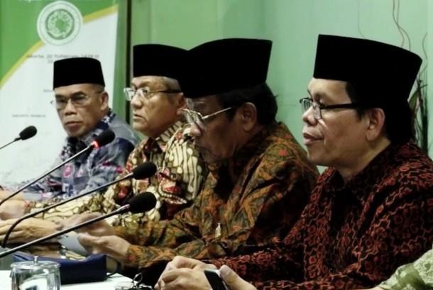 Sekretaris Jenderal Majelis Ulama Indonesia (MUI) Anwar Abbas (Kedua dari kiri)
