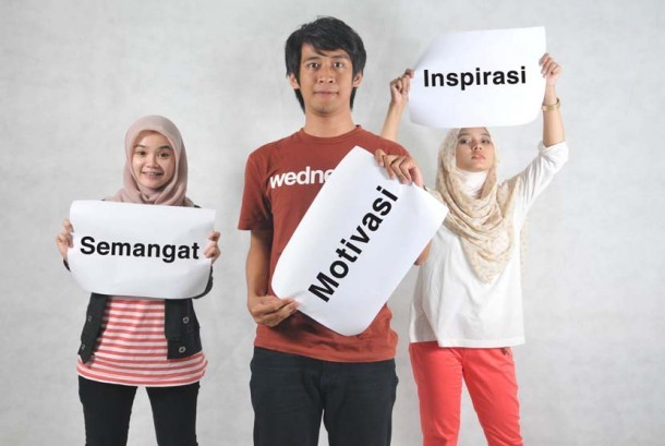 Semangat motivasi dan inspirasi anak muda (ilustrasi).