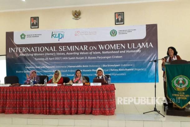 Seminar Internasional Ulama Perempuan digelar di IAIN Syekh Nurjati Cirebon, Selasa  (25/4).