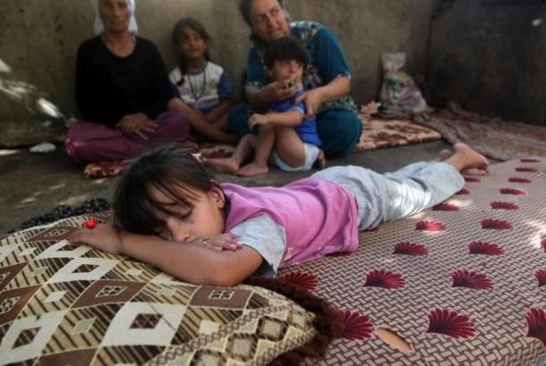 Seorang anak kecil dari kelompok minoritas Yazidi Irak terusir akibat ISIS.