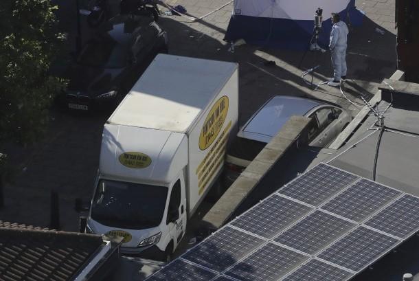 Mobil penabrak Muslim di London. (ilustrasi).