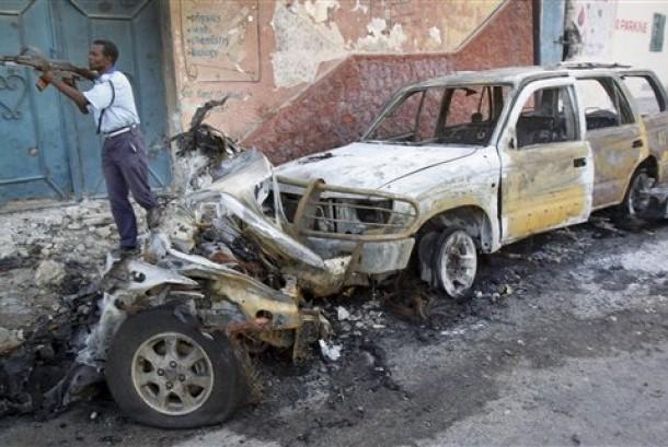 Bom meledak di Somalia (ilustrasi).