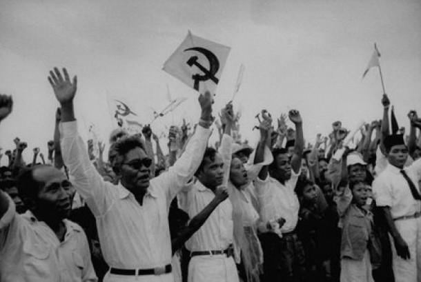 Simpatisan dan kader Partai Komunis Indonesia.
