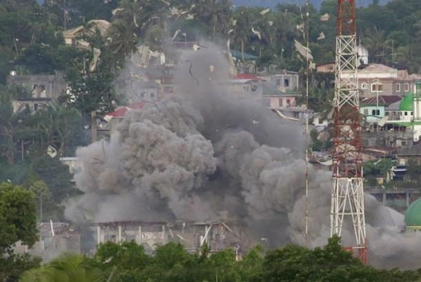 Situasi di Kota Marawi, Filipina, awal Juni 2017.