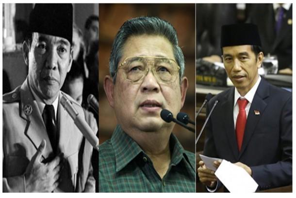 Soekarno, SBY, Jokowi