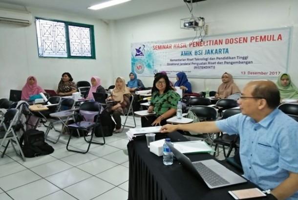 STMIK Nusa Mandiri Jakarta bersama AMIK BSI Jakarta menggelar seminar hasil Penelitian Dosen Pemula (PDP).