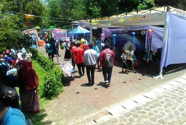 Suasana kegiatan Gerakan Perikanan di Kampus IPB Dramaga, Bogor, Ahad (17/9).