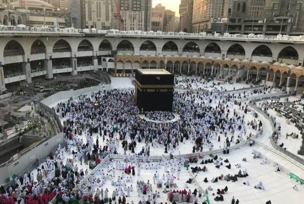 Suasana Masjidil Haram Senin 11 Desember 2017.