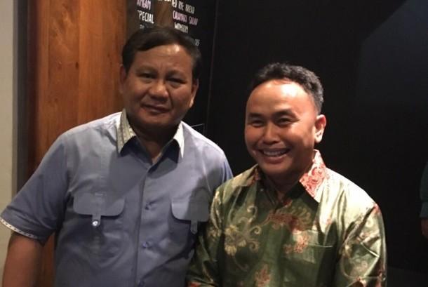 Sugianto Sabran (kanan) dan Prabowo