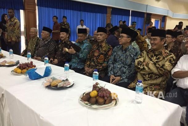 Sukuran dua tahun Muhammadiyah ranting Pondok Labu sekaligus peresmian koperasi syariah di gedung Pusdatin Kemenhan Jakarta ahad (19/11)