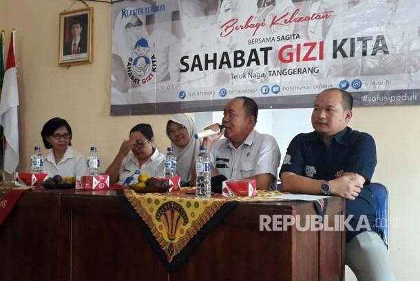 Sumber Selera dan PKPU melaksanakan Program Sahabat Gizi Kita di Aula Kantor Kepala Desa Tegal Angus, Teluk Naga, Tangerang, Rabu (26/7).