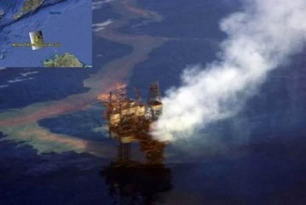Sumur minyak Montara yang bocor di Perairan Laut Timor