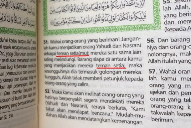 Tafsir Al Maidah yang diubah