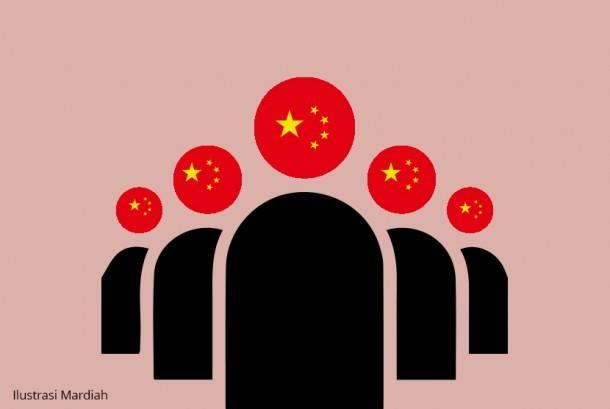 Tenaga kerja ilegal dari Cina (ilustrasi).