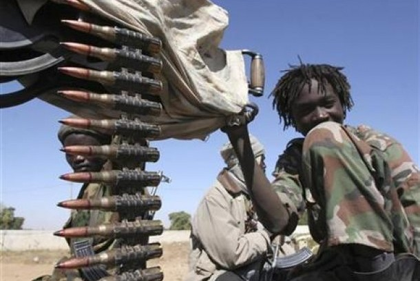 Soldier who was still a minor in the border of Chad-Sudan.
