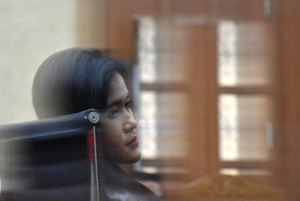 Terdakwa kasus kematian Wayan Mirna Salihin yang diduga diracun menggunakan kopi bersianida, Jessica Kumala Wongso