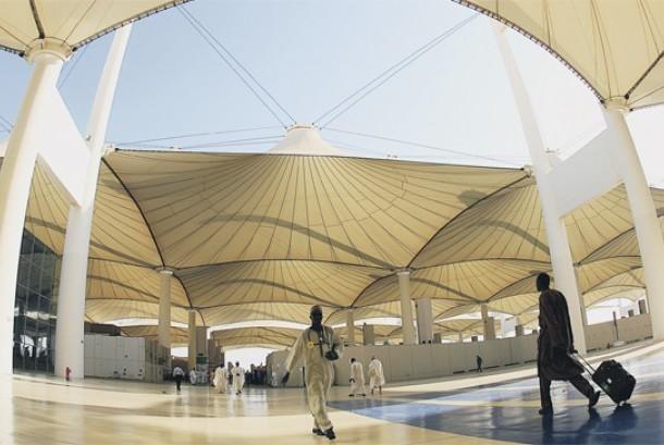 Terminal Haji di Bandara King Abdul Azis, Jeddah, Arab Saudi.