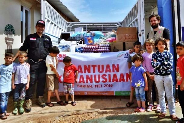 Bantuan Pangan ACT Sampai ke Kamp Pengungsi Suriah