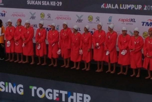 Tim polo air putri Indonesia.