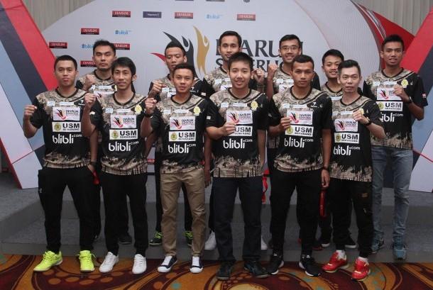 Tim Putra USM Blibli.com di turnamen Djarum Superliga Badminton 2017