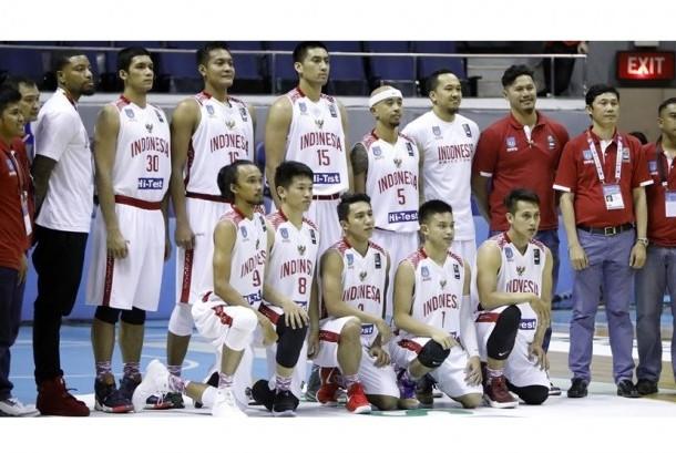 Timnas basket Indonesia di SEABA Championship 2017.