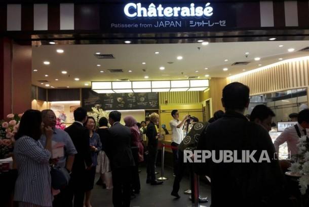 Toko kue asal Jepang 'Chateraise' di Senayan City Mal, Jakarta.
