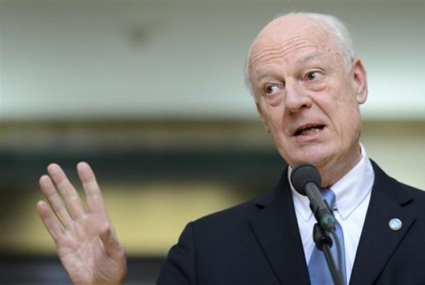 Utusan khusus Sekretaris Jenderal Perserikatan Bangsa-Bangsa (PBB) untuk Suriah Staffan de Mistura.