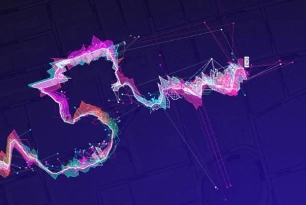 Visualisasi suara gelombang wifi.