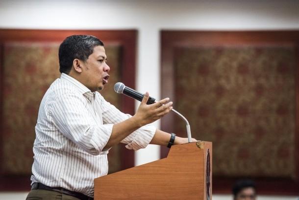 The Deputy Chairman of Indonesian House of Representatives Fahri Hamzah