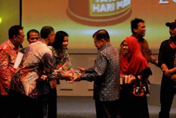 Wapres Jusuf Kalla hadir di acara Hari Puisi Indonesia (HPI) 2016.