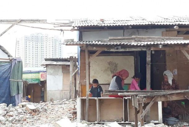 People of Kampung Akuarium, Penjaringan, North Jakarta were evicted last year.