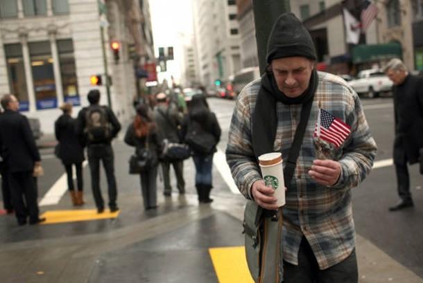 Warga miskin Amerika Serikat.