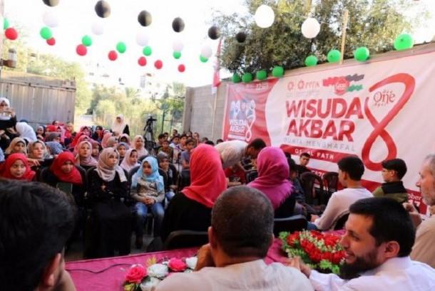 Wisuda Akbar 8 di Gaza, Palestina.