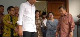 Jokowi-JK didampingi Ketua Umum PDIP, Megawati Soekarnoputri.