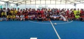 Para pemuda di Jepang, menggelar turnamen futsal menyambut HUT RI ke-69