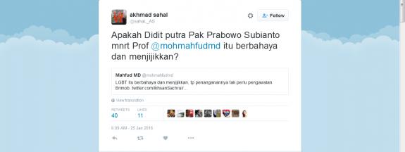 Nah Loo.......Didit Anak Prabowo Subianto Berkampanye Untuk Mendukung Komunitas Gay.