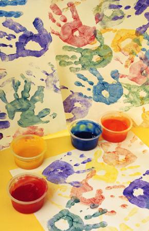 Buat Sendiri Cat Aman Finger Painting Untuk Si Kecil Republika