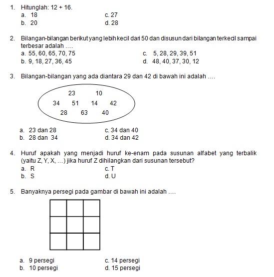 Latihan Soal Matematika Nalaria Realistik Paket 7 Untuk Kelas 1 2 Republika Online