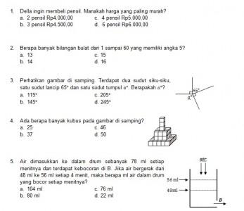 Latihan Soal Matematika Nalaria Realistik Paket 5 Untuk Kelas 5 6 Republika Online