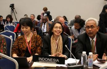 Damayanti, Pelaksana Tugas (Plt.) Sekretaris Jenderal DPR RI  saat  mengikuti konferensi ASGP di St. Petersburg.