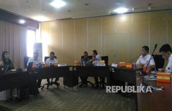Kementerian BUMN bersama Direktur BUMN Tambang melakukan sosialisasi terkait progress pembentukan holding tambang, Rabu (22/3).