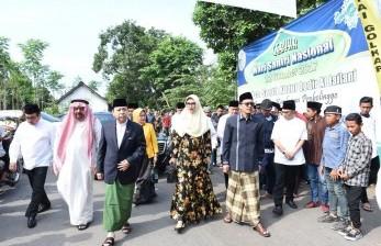 Ketua DPR Setya Novanto berada Kabupaten Probolinggo untuk menghadiri peringatan Hari Santri Nasional di Pondok Pesantren Syekh Abdul Qodir Al Jailani, Ahad (22/10).