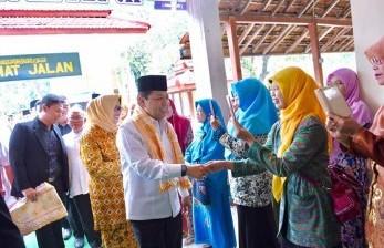 Ketua DPR Setya Novanto melakukan Safari Ramadhan ke Pondok Pesantren Sabilil Muttaqien di Takeran, Kabupaten Magetan, Jawa Timur, Rabu (14/6).
