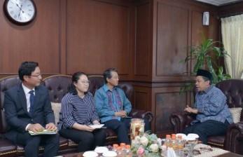 Wakil Ketua DPR RI Fahri Hamzah menerima Duta Besar Korsel untuk Indonesia