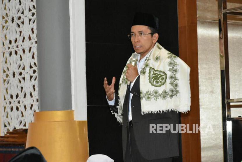 Gubernur NTB TGH Muhammad Zainul Majdi menyampaikan tausiyah tentang pentingnya sikap saling menghargai antar sesama (Ilustrasi)