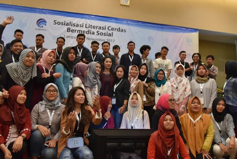 'Literasi Cerdas Bermedia Sosial' yang digagas Mudamudigital di Kota Bandar Lampung, (3/11).