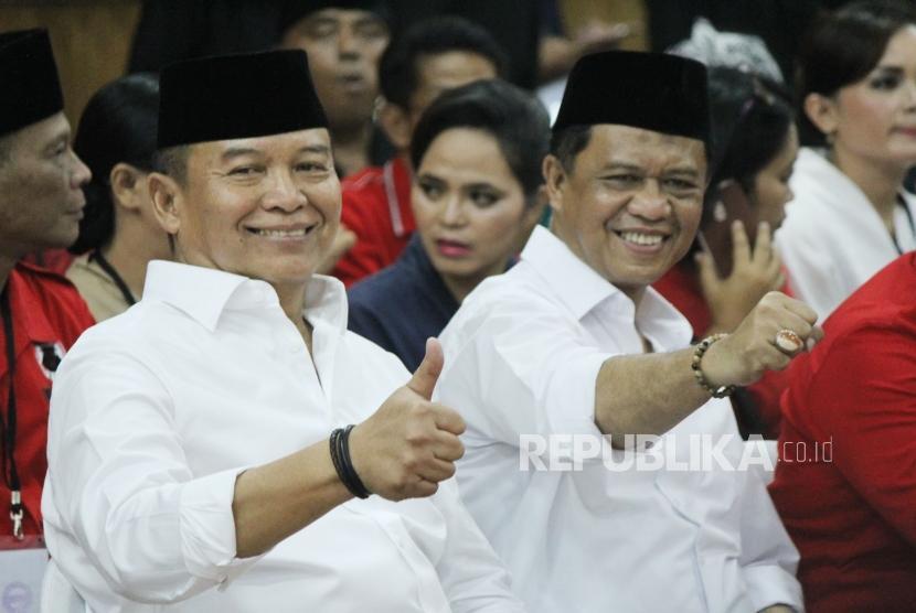 Bakal calon Gubernur dan Wakil Gubernur Jawa Barat Bakal Jawa Barat TB Hasanuddin dan Anton Charliyan.