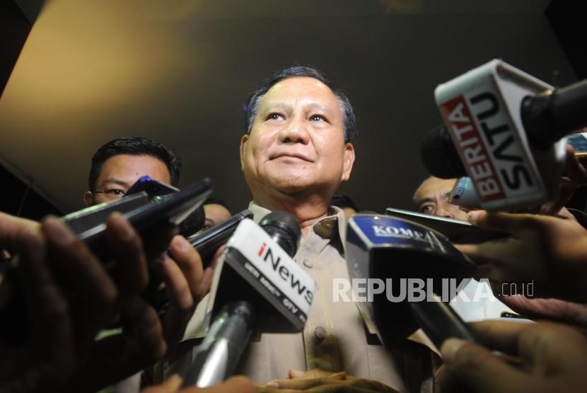 Ketua Umum Partai Gerindra Prabowo Subianto.